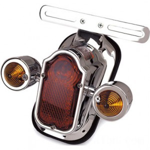 J&P Cycles Tombstone Taillight with Amber Turn Signals