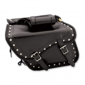 Dream Apparel Saddlebag & Accessory Studded Throwover Zip-Off Saddlebags - SD4065 | IDSpamCalls.Com