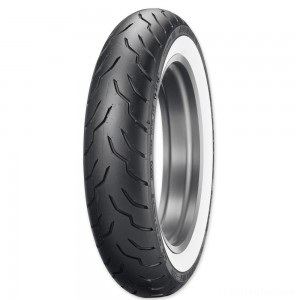 Dunlop American Elite 130/90B16 67H Wide Whitewall Front Tire - 45131520 | IDSpamCalls.Com