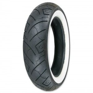 Shinko 777 150/80-16 Wide Whitewall Rear Tire - 87-4598