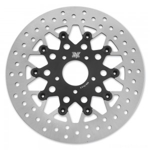 Twin Power Front Black Floating Mesh Style Brake Rotor - 1402TB