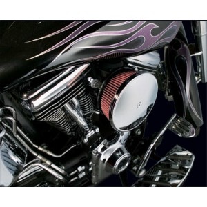 Arlen Ness Chrome Finish Stage II Big Sucker Kit Smooth Steel Cover - 18-818