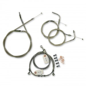 LA Choppers Stainless Cable/Brake Line Kit for 12″-14″ Bars - LA-8005KT-13