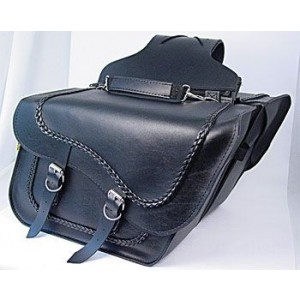 Willie & Max Braided Collection Slant Saddlebags - SB709-05 | IDSpamCalls.Com