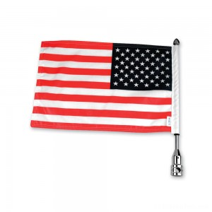 Pro Pad Tour Pack Solid Flag Mount with 6″ x 9″ American Flag - RFM-FXD3