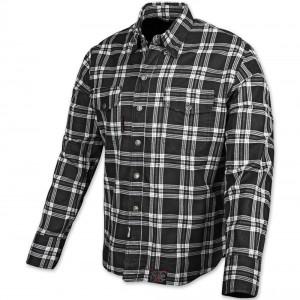 Speed and Strength Black Nine Black/White Flannel Moto Jacket - 878046