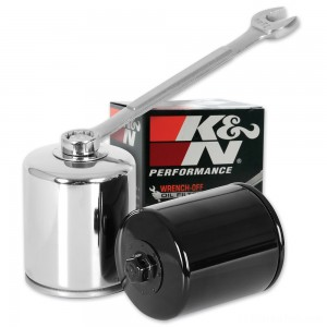 K&N High Performance Chrome Wrench-Off Oil Filter - KN-171C