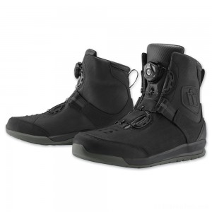 ICON Men's Patrol 2 Black Boots - 3403-0894