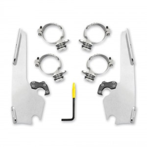 Memphis Shades Fats/Slims Polished Trigger Lock Mount Kit - MEK2013