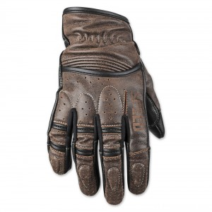 Speed and Strength Rust and Redemption Distressed Dark Brown Gloves - 878624
