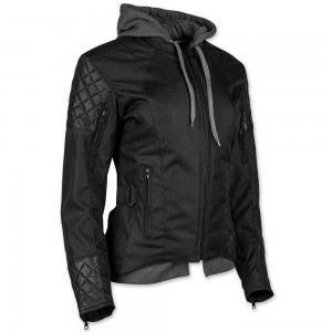 Speed and Strength Women's Double Take Black Textile/Leather Jacket - 884303
