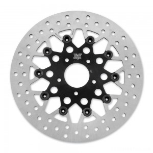 Twin Power Front Black Floating Mesh Style Brake Rotor - 1441TB | IDSpamCalls.Com