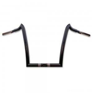 "KST Kustoms 1-1/4"" High Gloss Black 12"" Renegade Handlebar - 6116012HG"