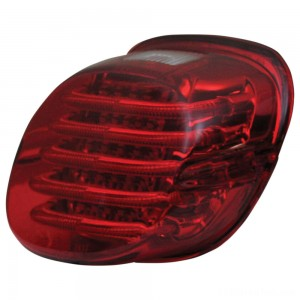 Custom Dynamics ProBEAM Low Profile LED Taillight w/ Window, Red - PB-TL-LPW-R