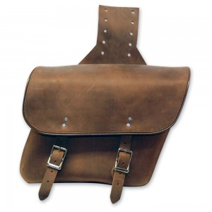 Leatherworks, Inc. Distressed Brown Throwover Saddlebags - 404T