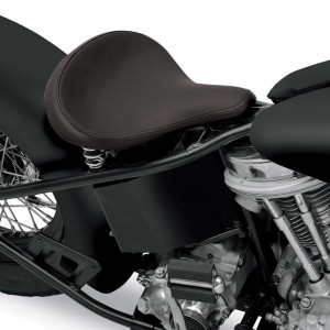 Drag Specialties Large Spring Solo Seat with Black Solar-Reflective Leather Smooth - 08060052