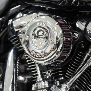 S&S Cycle Mini Teardrop Stealth Air Cleaner Chrome - 170-0435A
