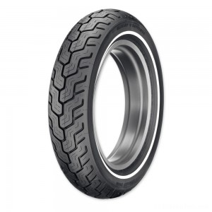 Dunlop D402 MU85B16 Narrow Whitewall Rear Tire - 45006751