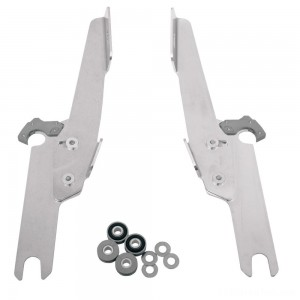 Memphis Shades Fats/Slims/Batwing Fairing Polished Trigger Lock Mount Kit - MEK1913