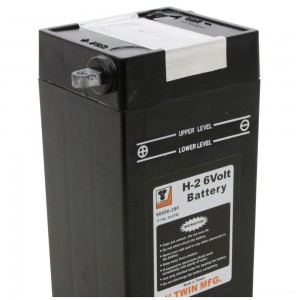 V-Twin Manufacturing Replica 6-Volt Battery Model H-2 - 53-0795