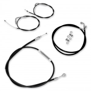 LA Choppers Black Cable/Brake Line Kit for 12″-14″ Bars - LA-8005KT-13B | IDSpamCalls.Com