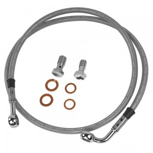 Twin Power Front Stainless Steel Braided Brake Line Kit Stock Length - 035851