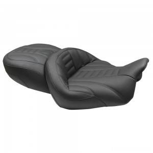 Mustang Super Touring Deluxe One-Piece Seat, Deluxe, Black - 76739