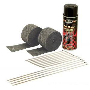 Design Engineering Inc. Motorcycle Exhaust Wrap Kit with Black Wrap - 010330 | IDSpamCalls.Com