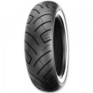 Shinko 777 130/90-16 Wide Whitewall Rear Tire - 87-4595