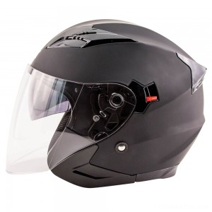 Zox Journey Matte Black Open Face Helmet - 88-33643
