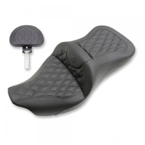 Saddlemen Road Sofa LS Lattice Stitch Extended Reach Seat with Driver Backrest - 808-07B-184BR | IDSpamCalls.Com