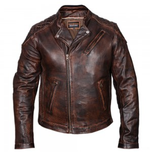 Vance Leathers Men's Classic Lightweight Vintage Brown Leather Jacket - HMM521VB-XL