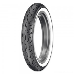 Dunlop D401 100/90-19 Wide Whitewall Front Tire - 45064215