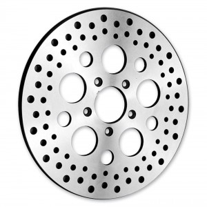 "Biker's Choice 11.5"" Rear Round Hole Polished Rotor - M-RT-1036 