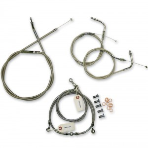 LA Choppers Stainless Cable/Brake Line Kit for 12″-14″ Bars - LA-8300KT-13