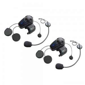 Sena Technologies SMH10 MC Bluetooth Headset/Intercom with Universal Mic Kit Dual Pack - SMH10D-11