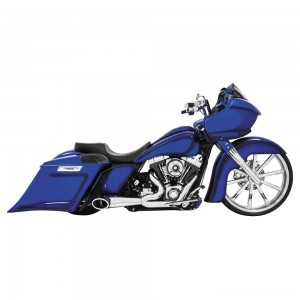 Freedom Performance 2-into-1 Turnout Exhaust Chrome/Black - HD00509