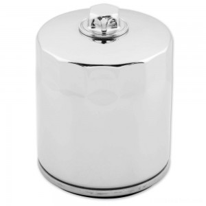 Twin Power Chrome Oil Filter with Nut - JO-M150C | IDSpamCalls.Com
