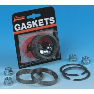 Genuine James Exhaust Gasket Kit with Tapered Profile Gaskets - JGI-65324-83-KWG2