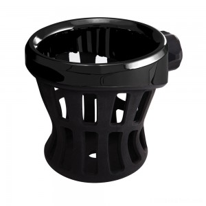 Ciro Black Drink Holder With Perch Mount - 50611 | IDSpamCalls.Com