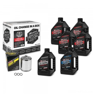 Maxima Synthetic 20W-50 Complete Oil Change Kit with Chrome Filter - 90-119016PC | IDSpamCalls.Com