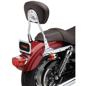 Cobra Short Round Sissy Bar with Pad - 602-1303 | IDSpamCalls.Com