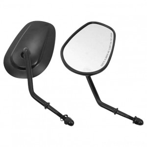 Biker's Choice Tapered Short Stem Mirrors Black - 70237 | IDSpamCalls.Com