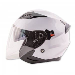 Zox Journey White Open Face Helmet - 88-33652