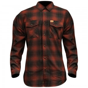Dixxon J&P Cycles Men's The Brickhouse Flannel - JPRED-MENS-LG